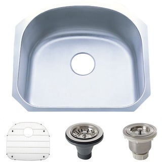 Stainless Steel 18-gauge 23.25-inch Undermount Single-bowl Kitchen Sink