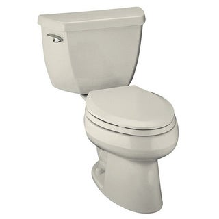Kohler Wellworth Classic Biscuit 2-piece 1.6 GPF Pressure Lite Elongated Toilet
