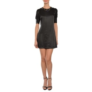 Cynthia Rowley Striking Jeweled Black Dress
