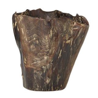 Sage & Co Carved Wood Planter
