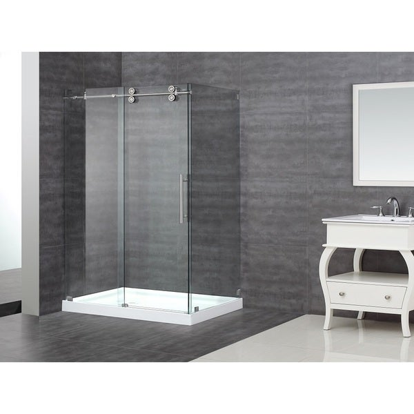 Aston 48 Inch Frameless Sliding Shower Enclosure With
