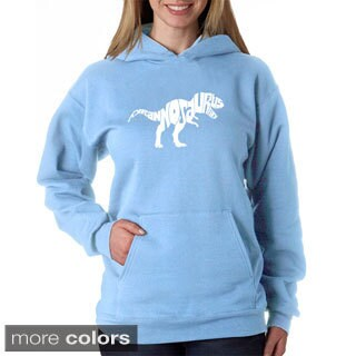 Los Angeles Pop Art Women's Tyrannosaurus Rex Text Sweatshirt