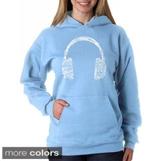 Los Angeles Pop Art Women's Music Headphones Sweatshirt