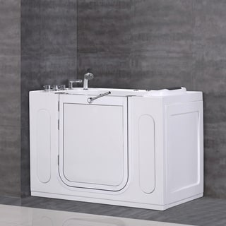 Aston 50x30-inch White Jetted Walk-in Tub with Side Panel