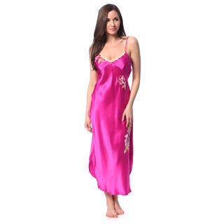 Julianna Rae Women's 'Fuschia Memories' Silk Nightgown