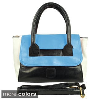 Oasis 'Sandra' Colorblocked Top Handle Satchel