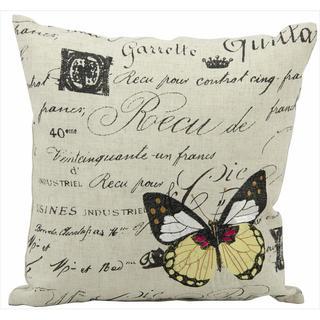 Mina Victory 'Lifestyle' Script Print Throw Pillow (18 x 18 inches)