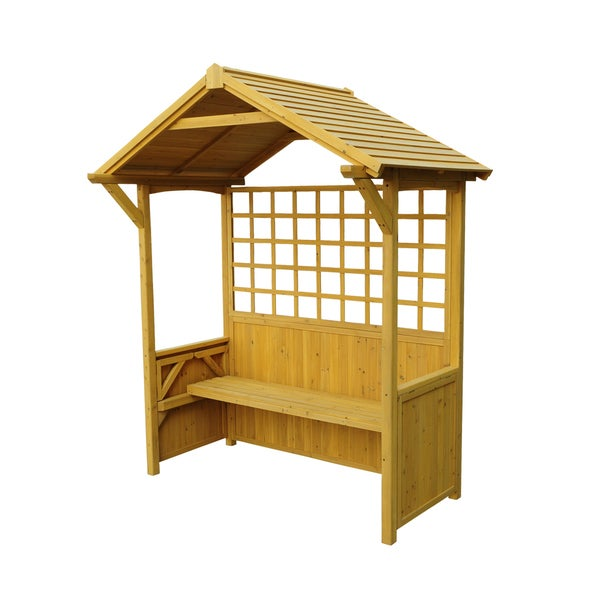 Two-in-One Western Red Cedar Seated Party Arbor