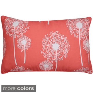 Dandelion Glitter Printed 12x20-inch Feather Fill Throw Pillow