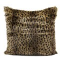 Mina Victory Faux Fur Brown 18-inch Throw Pillow