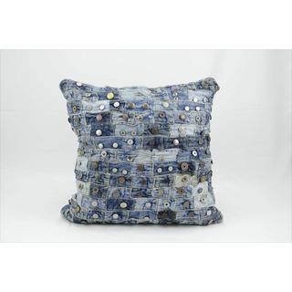 Mina Victory Denim 16-inch Throw Pillow