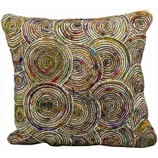 Mina Victory Lifestyle Multicolor Circles 18-inch Throw Pillow