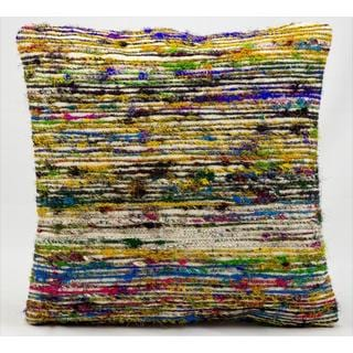 Mina Victory Lifestyle Multicolor Stripe 18-inch Throw Pillow