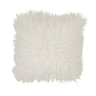 Mina Victory 16-inch Square Genuine Fur Throw Pillow by Nourison