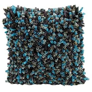 Mina Victory Lifestyle Black/ Blue 18-inch Throw Pillow