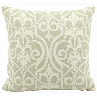 Mina Victory Lifestyle Green Scroll 18-inch Throw Pillow