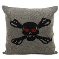 Mina Victory Lifestyle Skull and Bones 18-inch Throw Pillow