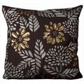 Mina Victory Luminescence Brown 20-inch Throw Pillow