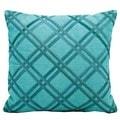 Mina Victory Natural Leather and Hide Blue 20-inch Throw Pillow