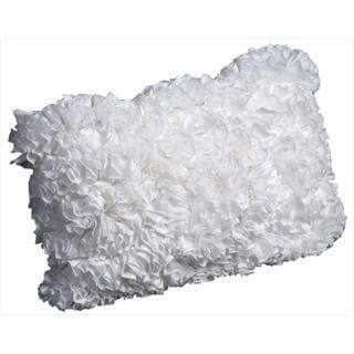 Mina Victory Lifestyle White Ruffle Textured Throw Pillow (12 x 18 inches)