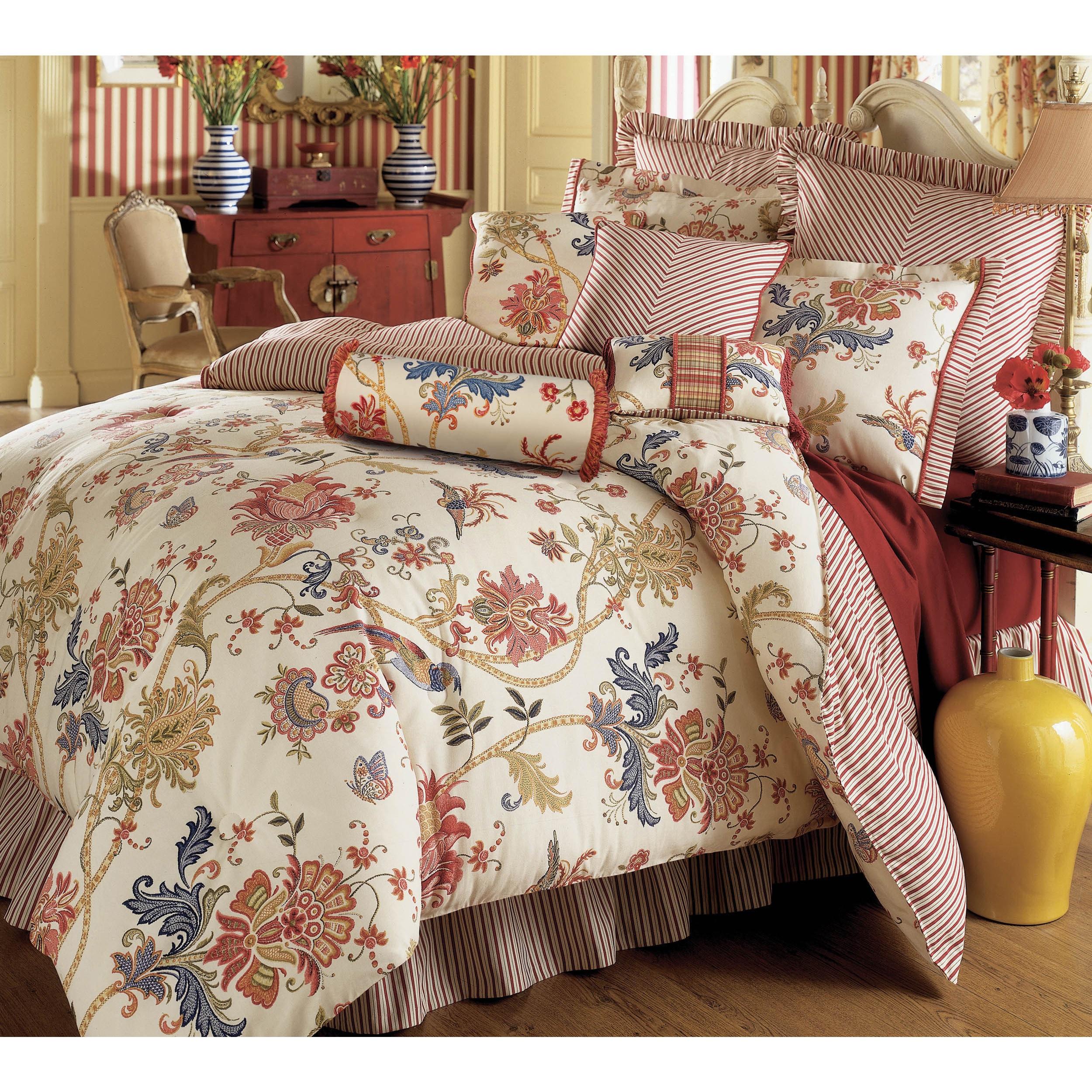 Rose Tree Jacobean Floral 6-piece Cotton Comforter Set