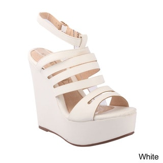 Kayleen 'Mikeca-2' Women's Comfy Ankle Strappy Wedge Platform Sandals