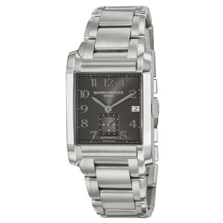 Baume & Mercier Men's 'Hampton' Stainless Steel Swiss Black Dial Automatic Watch
