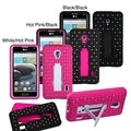 BasAcc Symbiosis Stand Case with Diamonds for LG D500 Optimus F6/ MS500 Optimus F6