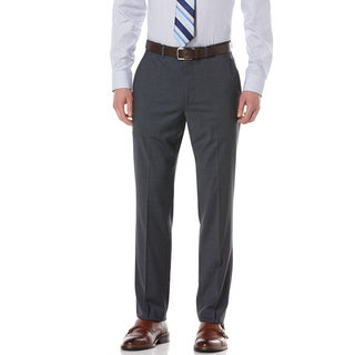 Perry Ellis Portfolio Men's 'Travel Luxe Elite' Slate Modern Fit Mini Check Pants