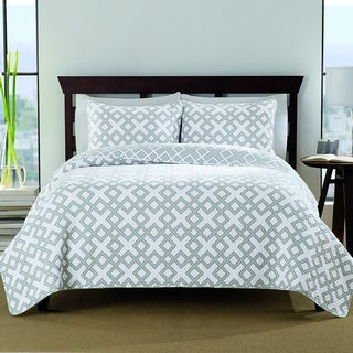 Bergen Cotton 3-piece Quilt Set