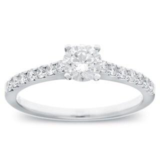14k White Gold 3/4ct TDW Diamond Engagement Ring (G-H, SI2-I1)