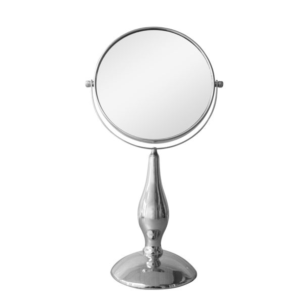 Free Standing 5X Chrome Magnifying Makeup Mirror
