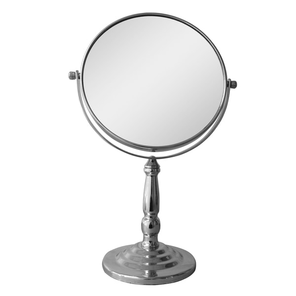 Free Standing Victorian Style 5x Magnifying Makeup Mirror By Elegant Home Fashions 16114770