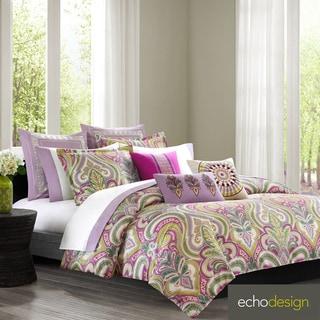 Echo Design Vineyard Paisley Cotton 3-piece Duvet Cover Set