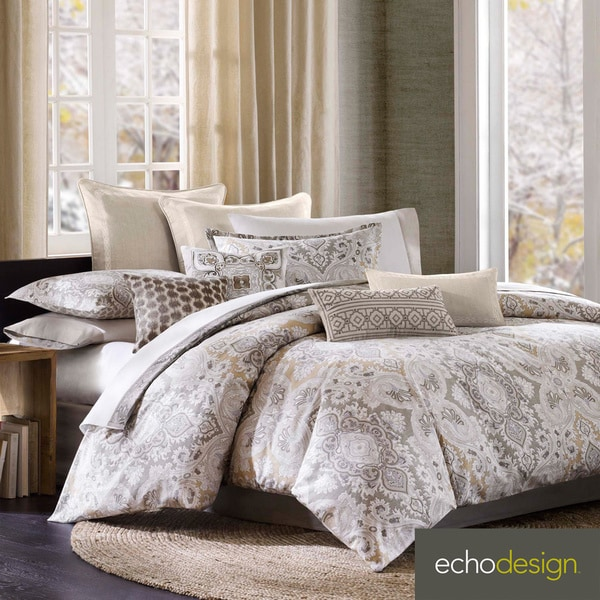 Echo Design Odyssey Cotton Paisley 4-piece Comforter Set with Euro Sham Sold Separate