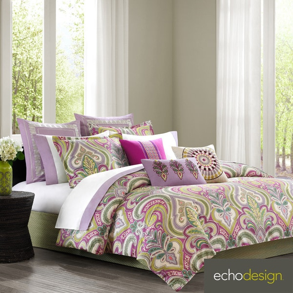 Echo Design Vineyard Paisley Cotton 4-piece Comforter Set with Euro Sham Sold Separate Full only(As Is Item)