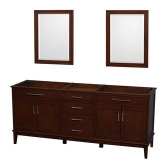 Wyndham Collection Hatton 80-inch Dark Chestnut Double-sink Bathroom Vanity