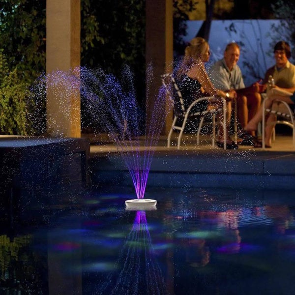 Aquajet floating pool light show and fountain overstock for Pool light show walmart