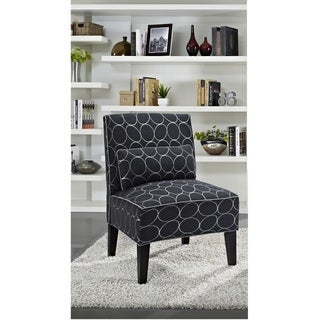 Cambria Circular Pattern Upholstered Slipper Chair