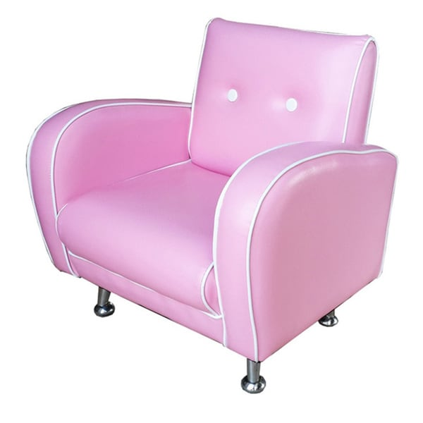 Red Vanilla Kids Flambay Pink Mini Arm Chair