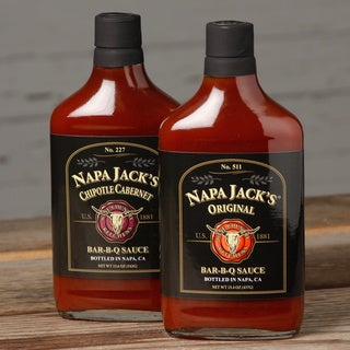 Napa Jack's Chipotle Cabernet/ Original Bar-B-Q Sauce (Pack of 2)
