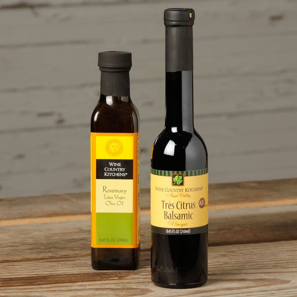 Wine Country Kitchens Rosemary Extra Virgin Oil & Tres Citrus Balsamic Vinegar