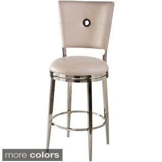 Montbrook Faux Leather Keyhole-back Swivel Stool