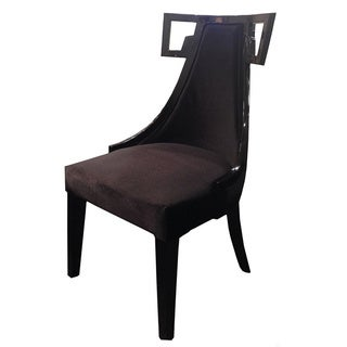 Skyline Black Velvet Side Chair