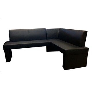 Zenith Black Corner Sofa