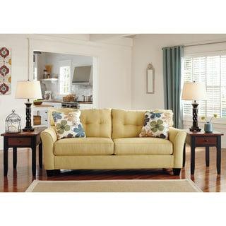 Signature Design by Ashley Kylee Goldenrod Contemporary Sofa and Accent Pillows