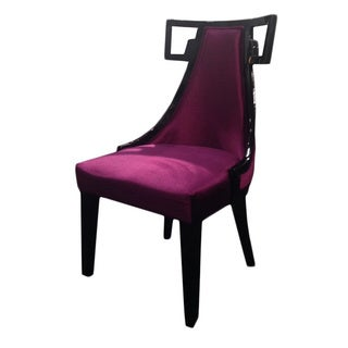 Skyline Purple Velvet Side Chair
