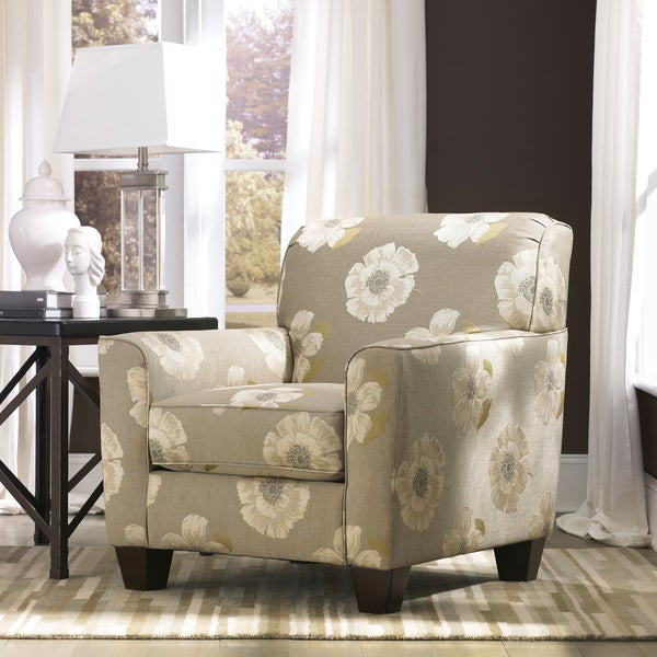Signature Design By Ashley Pia Linen Floral Print Accent Chair 16116610