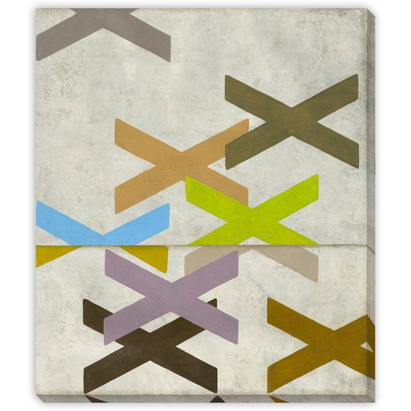 X Marks the Spot II Oversized Gallery Wrapped Canvas