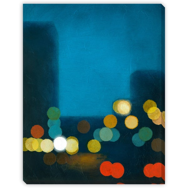 Flashing Lights II Oversized Gallery Wrapped Canvas